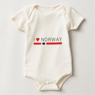Body Para Bebê Eu amo Noruega