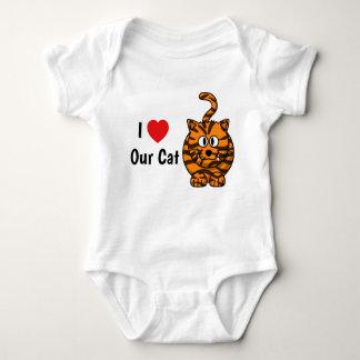 Body Para Bebê Eu amo nossa veste do gato
