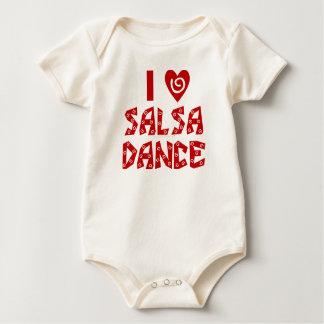 Body Para Bebê Eu amo o amante feito sob encomenda da dança da