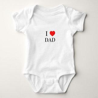 Body Para Bebê EU AMO o bebê do PAI de uma peça só