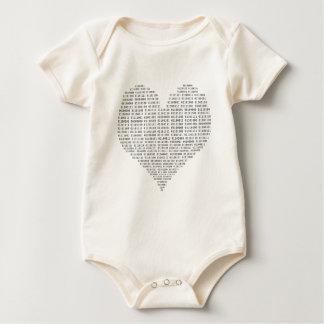 Body Para Bebê Eu amo o binário da tecnologia