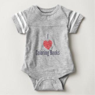 Body Para Bebê Eu amo o Bodysuit do bebê dos livros para colorir