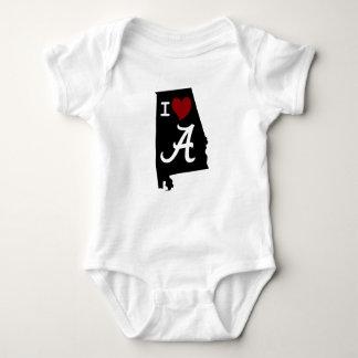Body Para Bebê Eu amo o Bodysuit do jérsei do bebê de Alabama
