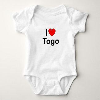 Body Para Bebê Eu amo o coração Togo