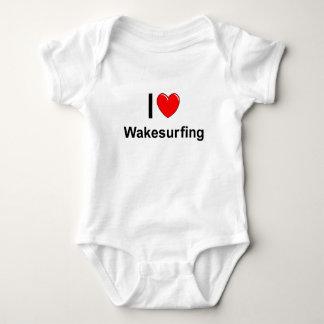 Body Para Bebê Eu amo o coração Wakesurfing