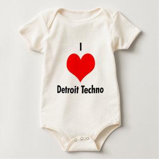 Body Para Bebê Eu amo o Creeper da criança do techno de detroit