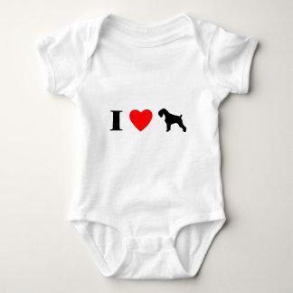 Body Para Bebê Eu amo o Creeper do bebê dos Schnauzers