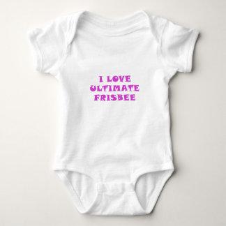Body Para Bebê Eu amo o Frisbee final