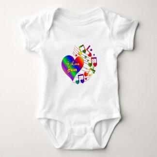 Body Para Bebê Eu amo o jazz