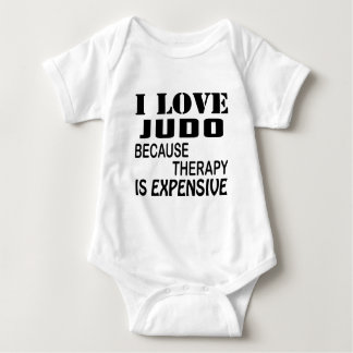 Body Para Bebê Eu amo o judo porque a terapia é cara