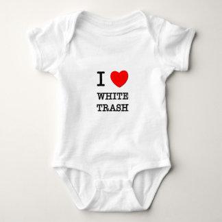 Body Para Bebê Eu amo o lixo branco