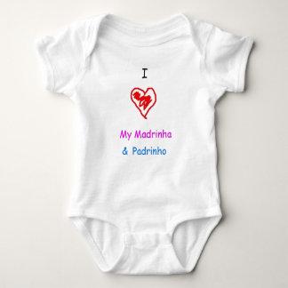 Body Para Bebê Eu amo o madrinha e o padrinho