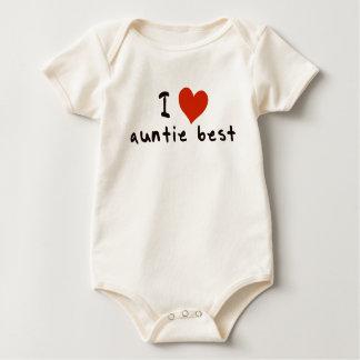 Body Para Bebê Eu amo o melhor do auntie