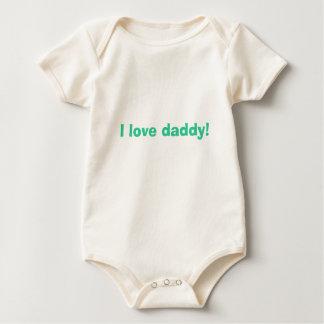Body Para Bebê Eu amo o pai!