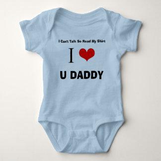 Body Para Bebê Eu amo o pai de U