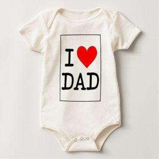 Body Para Bebê Eu amo o pai (do coração)