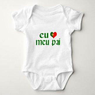 Body Para Bebê Eu amo o pai - português