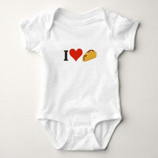 Body Para Bebê Eu amo o Tacos para amantes do Taco