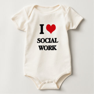 Body Para Bebê Eu amo o trabalho social