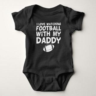 Body Para Bebê Eu amo olhar o futebol com meu pai
