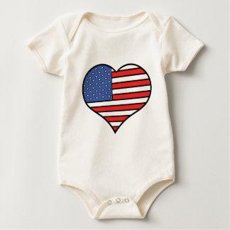 Body Para Bebê Eu amo orgulho de América - os Estados Unidos da