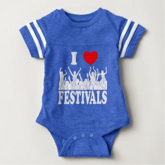Body Para Bebê Eu amo os festivais (brancos)