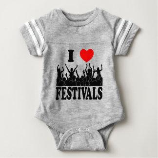 Body Para Bebê Eu amo os festivais (o preto)