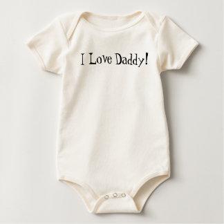 Body Para Bebê Eu amo, pai!