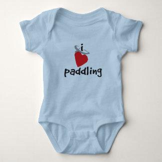 Body Para Bebê Eu amo remar - bebê uma parte