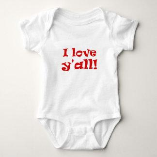 Body Para Bebê Eu amo Yall