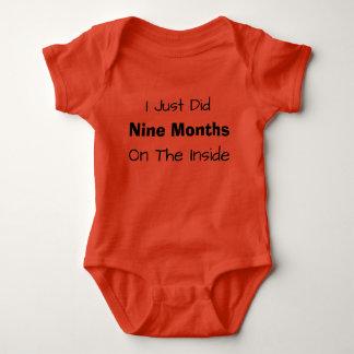 Body Para Bebê Eu apenas fiz nove meses no interior