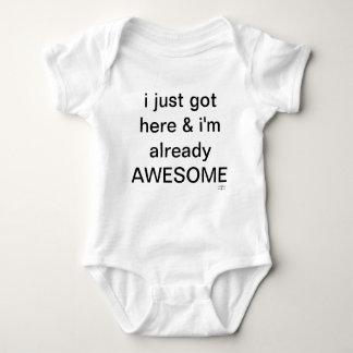 Body Para Bebê Eu apenas obtive aqui e eu sou já impressionante