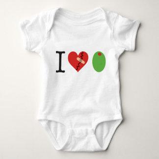 Body Para Bebê eu azeitona do coração JUNTO-ME ao branco da LUTA)