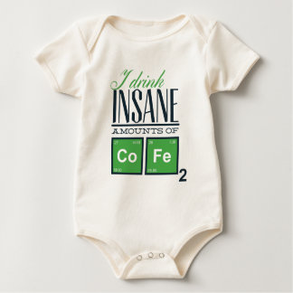 Body Para Bebê Eu bebo quantidades insanas de código, design do