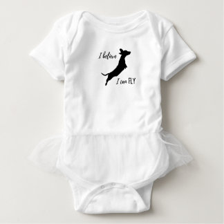 Body Para Bebê Eu belive mim posso voar o dachshund
