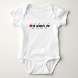 Body Para Bebê eu (coração) revesti brandamente terrier Wheaten