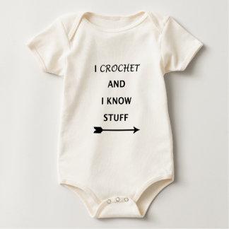 Body Para Bebê Eu Crochet e eu sei o material