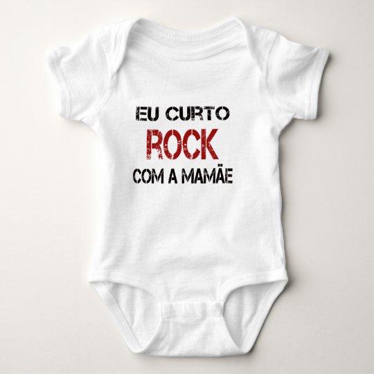 Body Para Bebê Eu Curto Rock com a mamãe