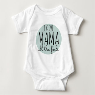 Body Para Bebê Eu dou o Mama sinto o T do gráfico da forma da rua