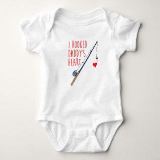 Body Para Bebê Eu enganchei a pesca do coração do pai