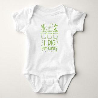 Body Para Bebê eu escavo potplants