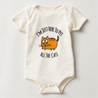 Body Para Bebê Eu estou apenas aqui Pet todo o gato