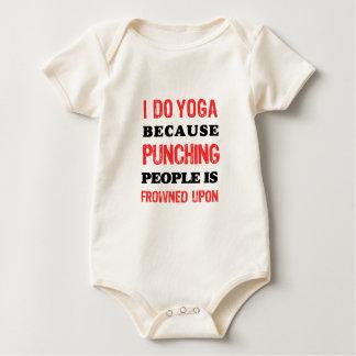 Body Para Bebê Eu faço a ioga porque perfurar pessoas é olhada de