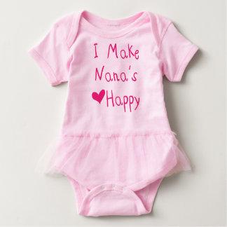 Body Para Bebê Eu faço ao coração de Nana o Bodysuit feliz do