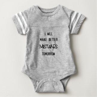 Body Para Bebê eu farei melhores erros amanhã