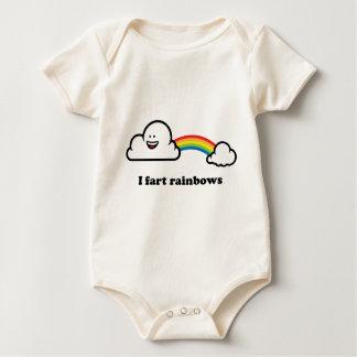 Body Para Bebê Eu fart arcos-íris