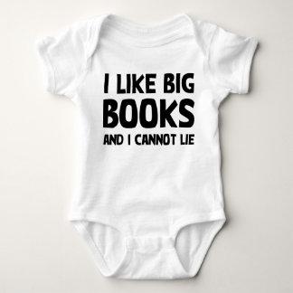Body Para Bebê Eu gosto de livros grandes