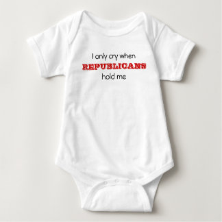 Body Para Bebê Eu grito somente quando, os REPUBLICANOS, me