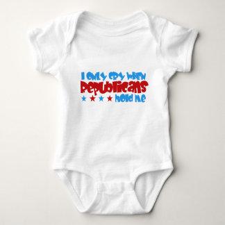 Body Para Bebê Eu grito somente quando os republicanos me