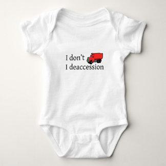 Body Para Bebê Eu não despejo. Eu Deaccession.